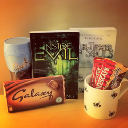 Give a book hamper as a Christmas gift